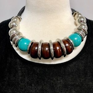 Jewelry - Turquoise and Silver Necklace